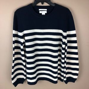Nordstrom Signature 100% Cashmere Striped Sweater